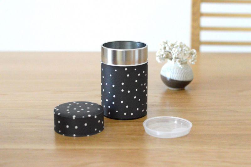 画像1: 茶筒『雪夜』(150g茶葉用)
