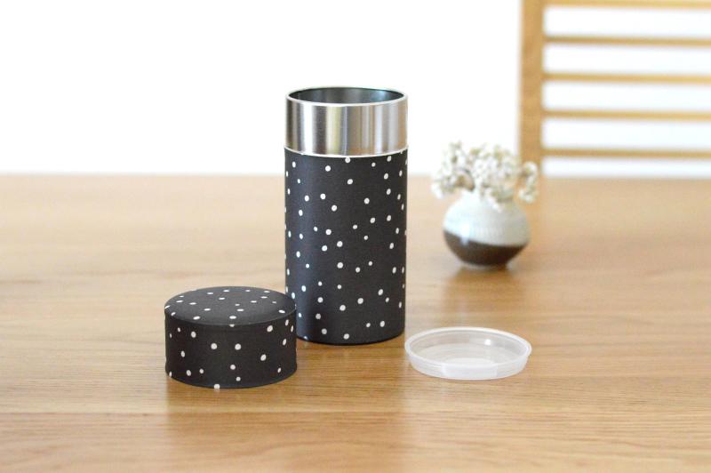 画像1: 茶筒『雪夜』(200g茶葉用)
