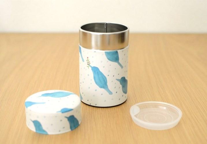 画像1: 茶筒『雪鳥/ゆきどり』(150g茶葉用)