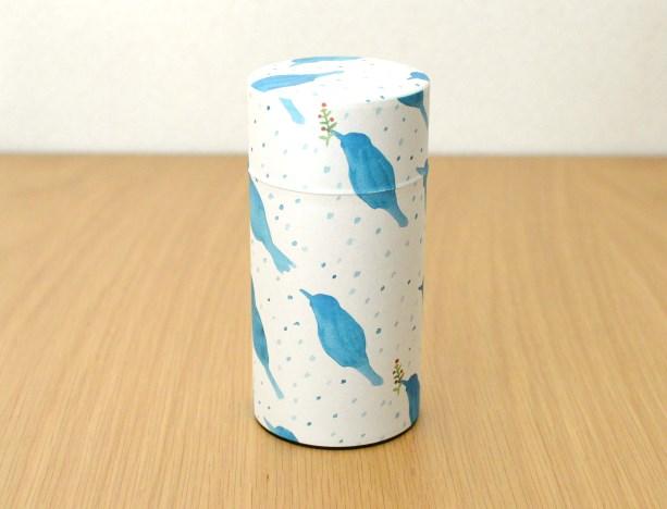 画像2: 茶筒『雪鳥/ゆきどり』(200g茶葉用)