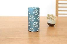 画像2: 茶筒『花飾り』大 / 200g茶葉用 (2)
