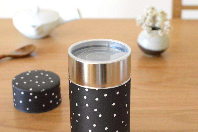 画像3: 茶筒『雪夜』(150g茶葉用)