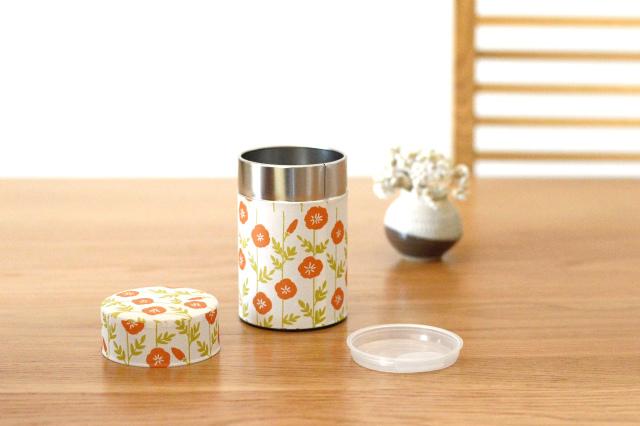 画像1: 茶筒『のうぜんかずら』小 / 150g茶葉用 (1)