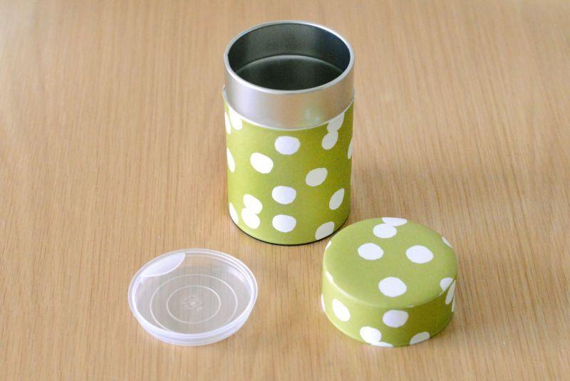 画像1: 茶筒『抹茶白玉』小 / 150g茶葉用 (1)