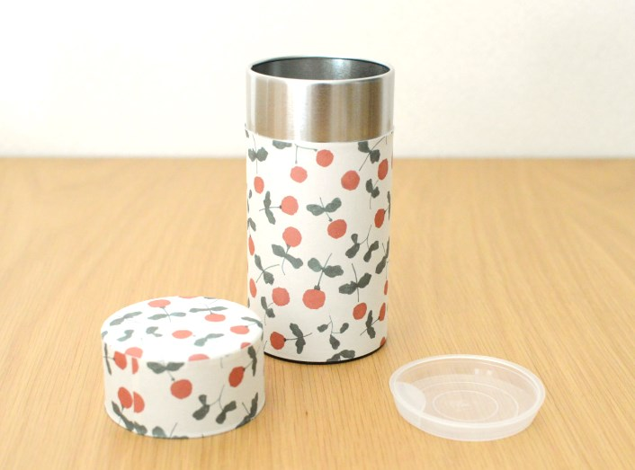 画像1: 茶筒『木いちご』大 / 200g茶葉用 (1)