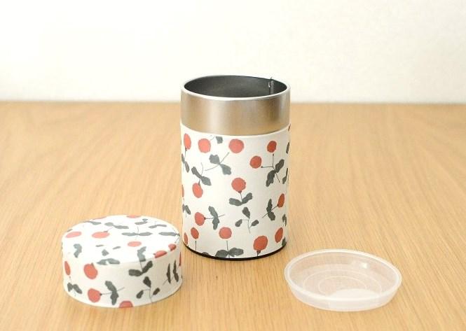画像1: 茶筒『木いちご』小 / 150g茶葉用 (1)