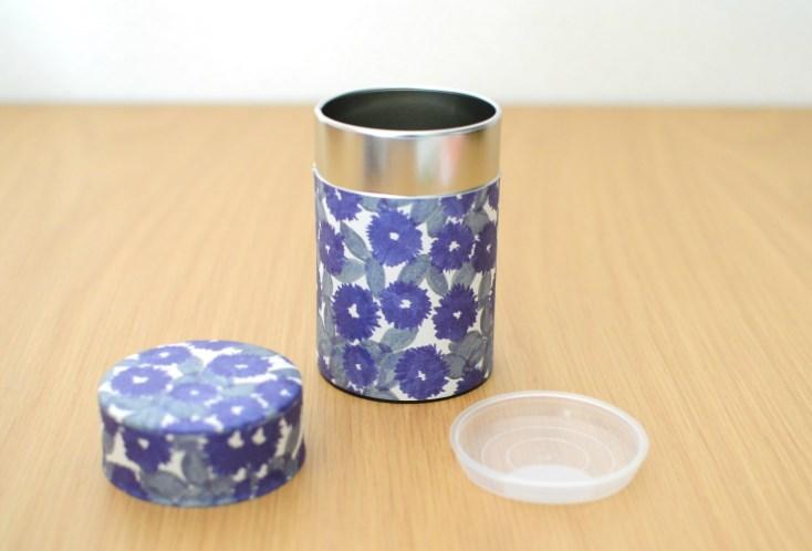 画像1: 茶筒『花化粧/はなげしょう』小 / 150g茶葉用 (1)