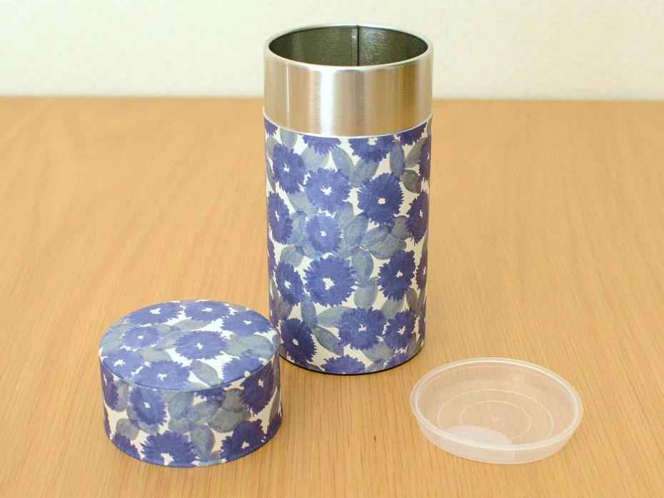 画像1: 茶筒『花化粧/はなげしょう』(200g茶葉用)
