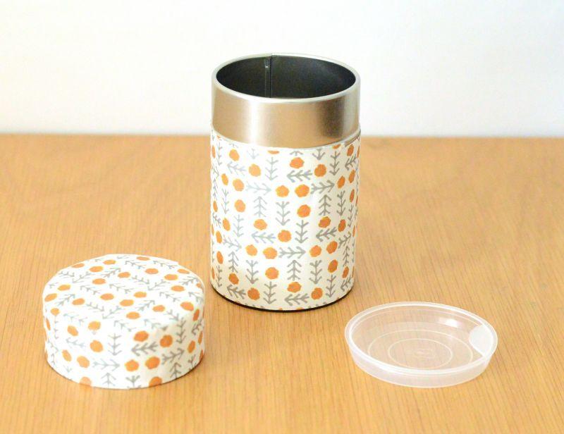 画像1: 茶筒『花格子』小 / 150g茶葉用 (1)