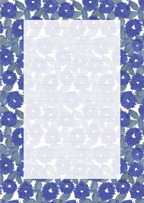 画像1: ゆきふみ「花化粧」 / A5サイズ便箋10枚綴り、封筒3枚セット (1)