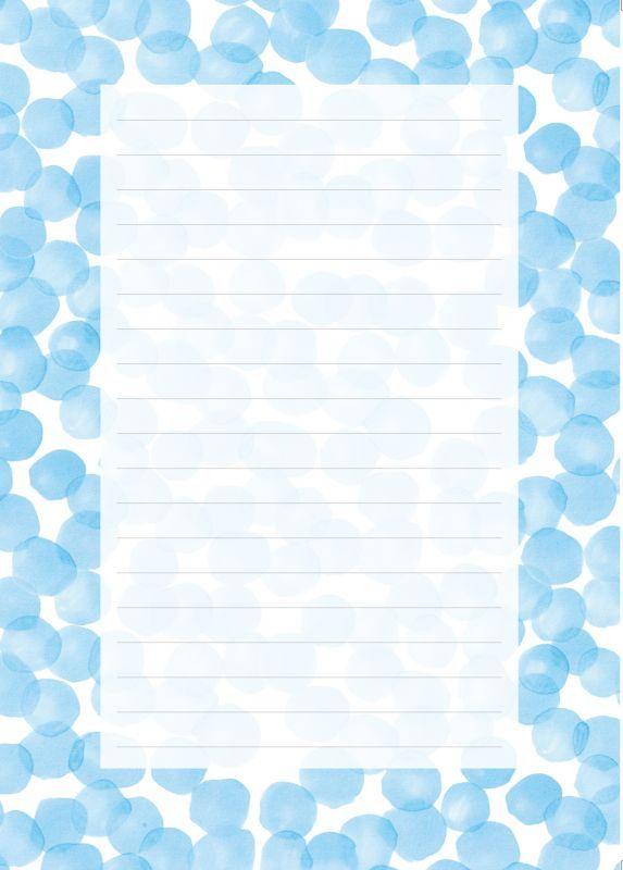画像1: ゆきふみ「みなも」 / A5サイズ便箋10枚綴り、封筒3枚セット (1)