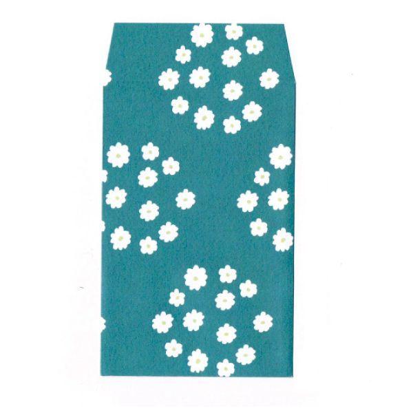 画像1: ぽち袋「花飾り」/ 同柄5枚綴り (1)
