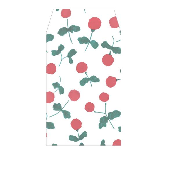 画像1: ぽち袋『木いちご』/ 同柄5枚綴り (1)