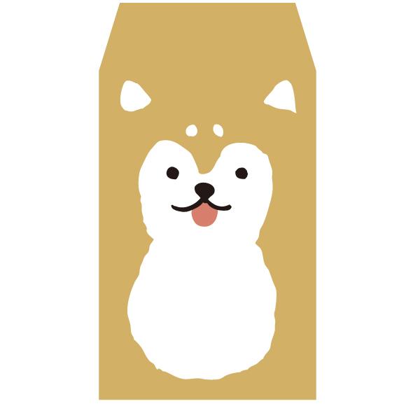 画像1: ぽち袋『柴犬』/ 同柄5枚綴り (1)