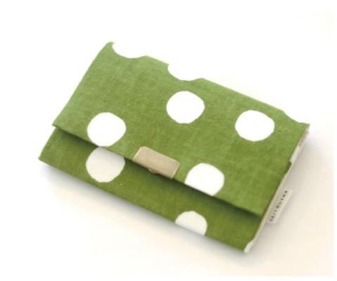 画像1: 名刺いれ「抹茶白玉」/ 京都製カードケース (1)