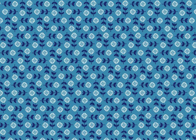 画像1: 包装紙帖「花手帖」/ A4サイズ包装紙 10枚綴り (1)