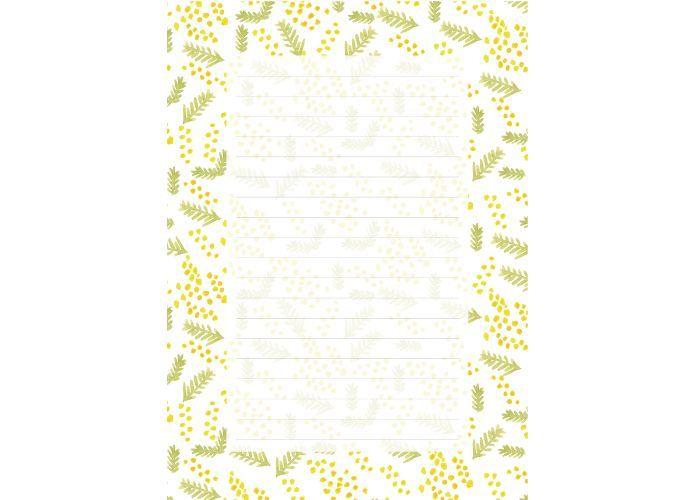 画像1: ゆきふみ『ミモザ』 / A5サイズ便箋10枚綴り、封筒3枚セット (1)