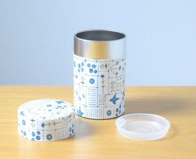 画像1: 茶筒『線画』小 / 150g茶葉用 (1)
