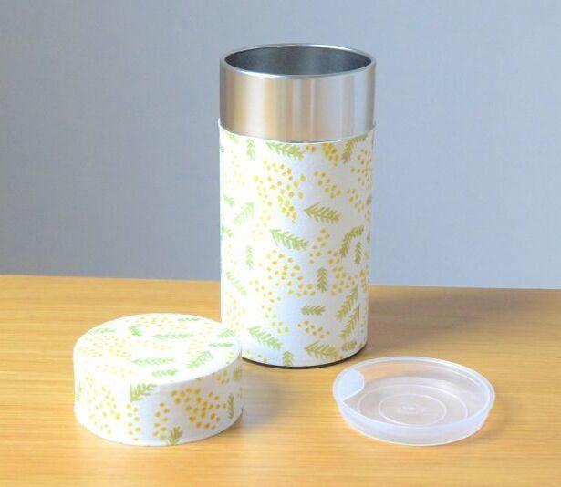 画像1: 茶筒『ミモザ』大 / 200g茶葉用 (1)