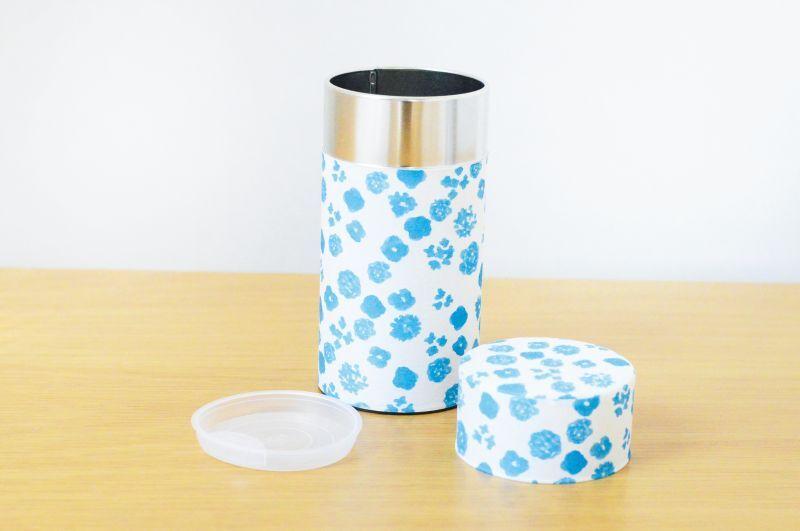 画像1: 茶筒『初雪』大 / 200g茶葉用 (1)