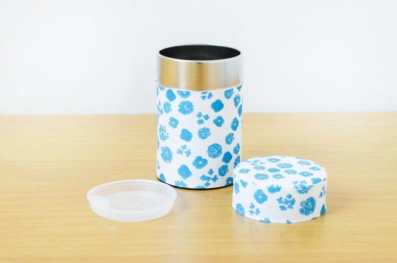 画像1: 茶筒『初雪』小 / 150g茶葉用 (1)